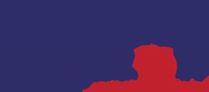 Logotyp panoramy miasta Lubaczowa z napisem